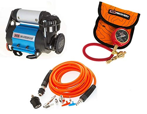 ARB 4X4 Accessories Ultimate Wheeler Pack Hd Air Compressor & Pump Up Kit & E-Z Tire Deflator