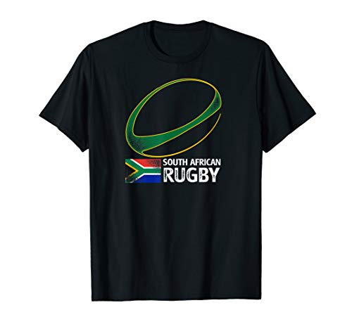 (South African Rugby T Shirt Springbok South Africa Flag)