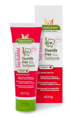 BabyGanics Say Ahh Flouride Free Toothpaste, Strawberry, 4 Ounce, Health Care Stuffs