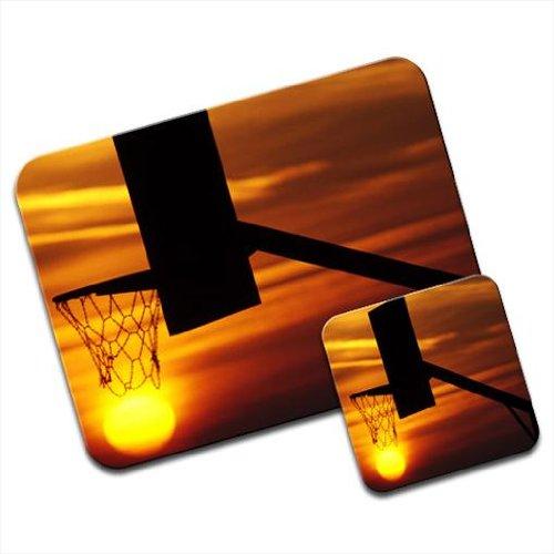 De silueta de canasta de baloncesto en la Premium de alfombrilla ...