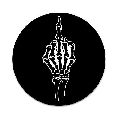 Skeleton Middle Finger 2 Sticker Set for Pop Grip Stent for Phones and Tablets (Stickers (Finger Pops)