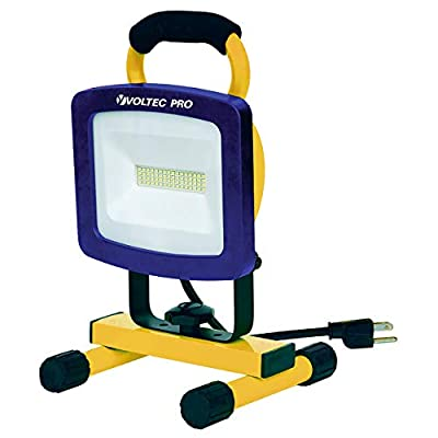 Voltec 08-00725 Portable LED Work Light, Yellow with Blue face Frame