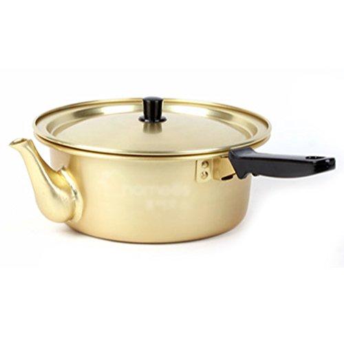 "HOMEOS Korea Noodle Pot Aluminum Pot 7.8""(20cm) Traditional HOT POT like a kettle"