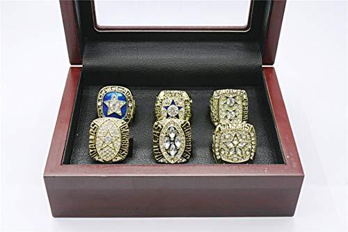 Dinobaby Dallas Super Bowl 1970 1971 1977 1992 1993 1995 Championship Cowboys Ring Six Pieces Set Rings Gold, Size 10 1971 Dallas Cowboys Super Bowl