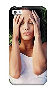 Quality JessicaBMcrae Case Cover With Angelina Jolie Hot Bikini Nice Appearance Compatible With Iphone 5c