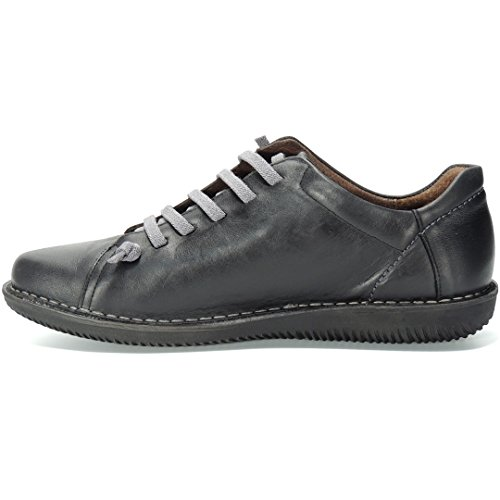 Cordones Negro Mujer 150 Modelo Zapato Llano Boleta para Casual 8t7q6