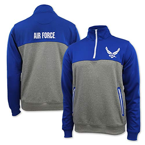 Air Force Wings Colorblock Performance 1/4 Zip, xx-large, ()