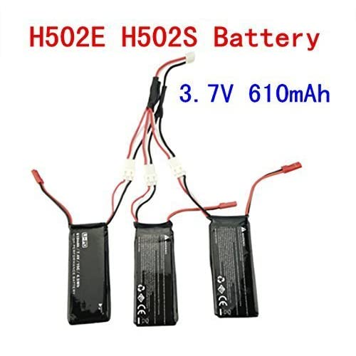 Fytoo Batteries Lipo,3PCS 3.7V 610mah batteries au lithium + 1PCS câble de conversion pour Hubsan H502S H502E Drone Quadcopter