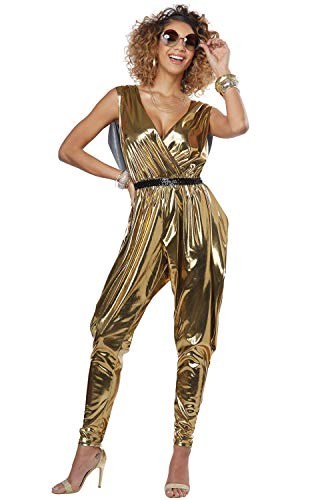 California Costumes Women's 70'S Glitz N Glamour - Adult Costume Adult Costume,  -Gold, X-Small]()