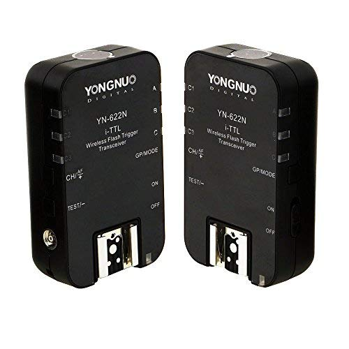YONGNUO YN 622N Wireless iTTL Flash Trigger 2Pcs Kit 2.4G Remote Controller Transmitter + Receiver for Nikon D70 D3200