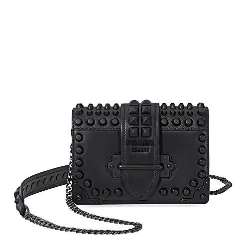 - Prada Small Leather Crossbody Bag- Black