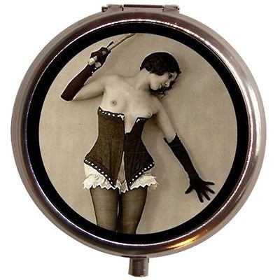 Flapper Whip Cheesecake Art Deco Pin up Pill Box Case Jazz (Art Deco Cheese)