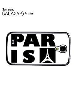 Paris France Eiffel Tower Mobile Cell Phone Case Samsung Galaxy S4 Mini Black