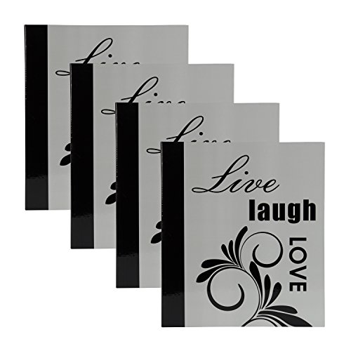 DesignOvation Live Laugh Love Expression Photo Album, Holds 440 4x6 Photos, Set of 4 by DesignOvation (Image #5)'