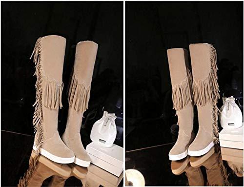 35 La Rodilla Wsr De Invierno Piernas Sobre 43 Mujer Nieve botas botas Largas Botas Pulir Calientes Altas Para botas awnPvxqa