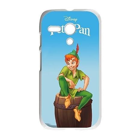 Motorola G White phone case Peter Pan YVD8905574: Amazon.es ...