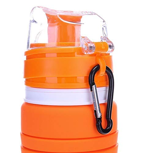 18oz YAMYONE Collapsible Water Bottle BPA Free FDA Approved Food-Grade Silicone Portable Leak Proof Travel Water Bottle