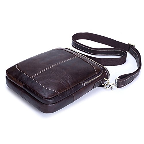 Shoulder Body With Clip Cross Bag Phone Loop Belt Genuine Holster Small Leather Mens Gendi Coffee YFZAF