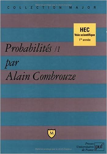 Livres gratuits Probabilités, 1 : HEC voie scientifique epub, pdf
