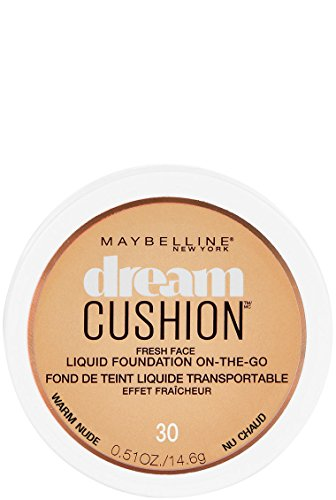 Maybelline New York Dream Cushion Fresh Face Liquid Foundation, Warm Nude, 0.51 oz.