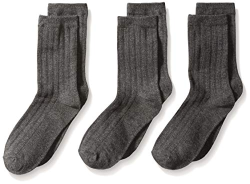 Jefferies Socks Big Boys Three-Pack Rib Crew Socks