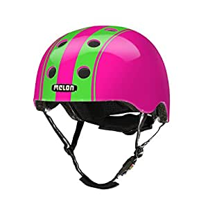 Melon Double Green Pink Helmet, Pink/Green, Glossy Finish, Small, 46 - 52cm / 18.25 - 20.5in Head Size