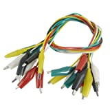 SODIAL(R) 10 Pcs Colorful Insulated Alligator Clip Test Lead Cable 45cm 1.5 Ft
