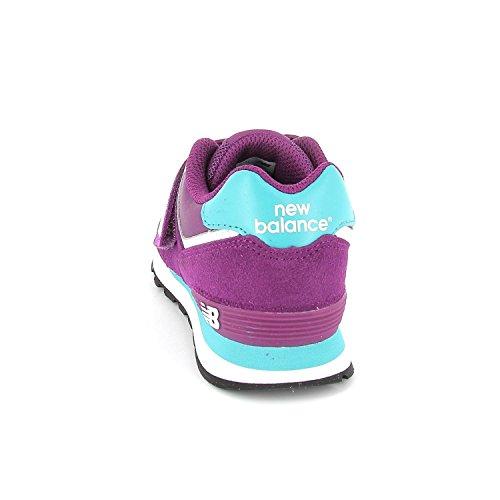 NEW BALANCE KG574PBI Scarpa sneakers, camoscio-texile, sottopiede estraibile, strappo