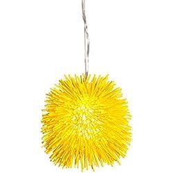 Varaluz 169M01YE Urchin 1-Light Mini Pendant - Un-Mellow Yellow Finish