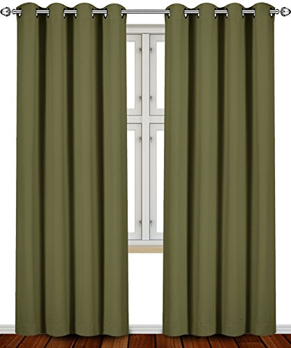 Blackout Room Darkening Curtains Window Panel Drapes
