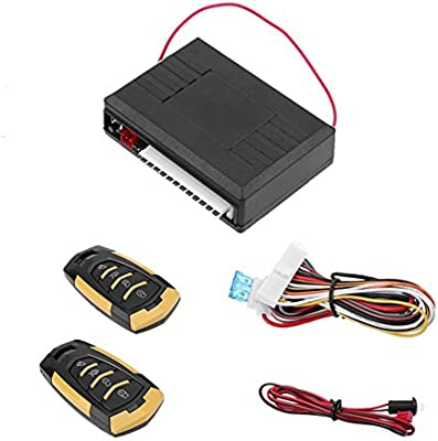 TOOGOO Cerradura central universal con control remoto Sistemas de alarma de coche Cerradura de puerta kit central remoto automatico Sistema de entrada ...