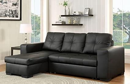 Amazon.com: Sevilla Sectional Sofa set Upholstered in Black ...