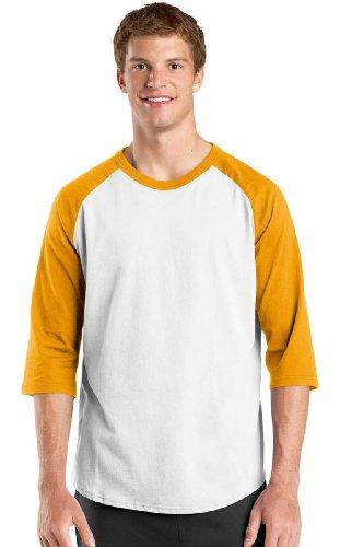 Sport-Tek raglan sleeve men's or youth baseball t-shirt, S,