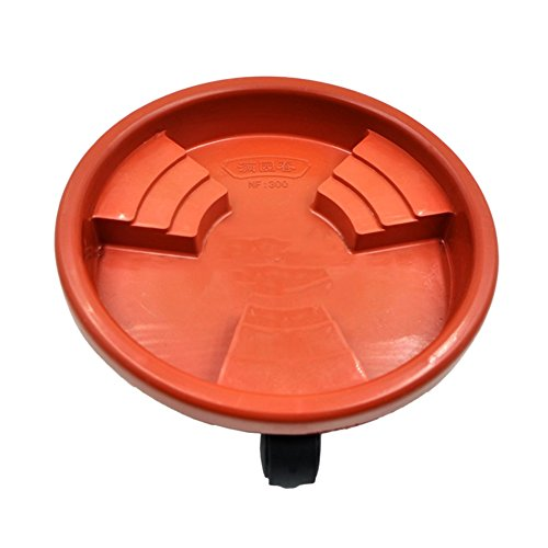 Plant Caddy On Wheels Rolling And Freemove Plantpot Round Flowerpot Stand, Universal Wheel Resin Flower Pot Tray Mobile non-slip Flower Pot Base Tray For Indoor And Outdoor (Brown, 18.9in) by blue--net