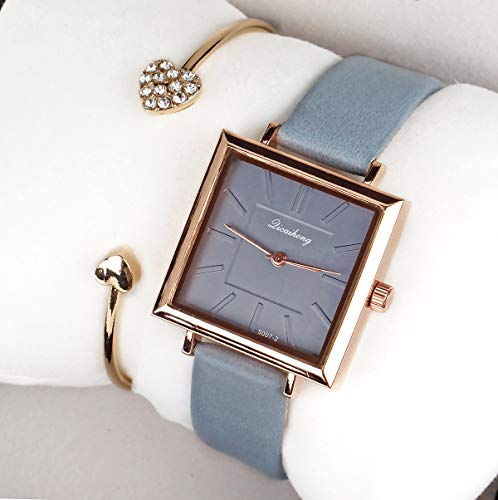 Square Dial Strap Fashion Ladies Wrist Watch Analog Quartz Business Casual Watch