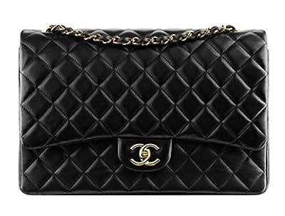 Brown Chanel Black Shoulder Bag Handbag