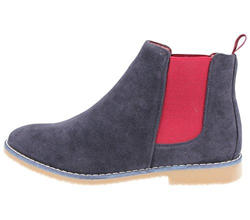 Footwear Adulti Navy Donna Uomo Stivali burgundy Foster Chelsea Unisex Ragazzi 6XXRdw