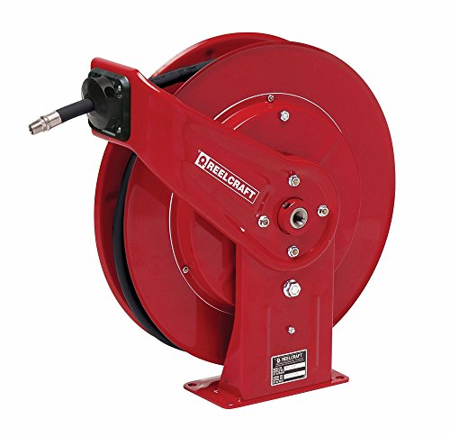 Reelcraft 7640-OMP 3/8'' x 40' Spring Retractable Hose Reel, 2600 PSI w/ Hose by Reelcraft