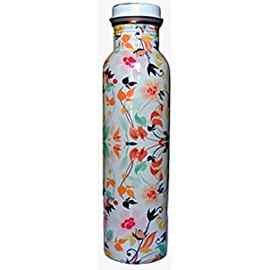 AK Enterprise Leak Proof Lacquer Coated Printed Copper Water Bottle for Travelling Purpose, Yoga Ayurveda Healing Health…