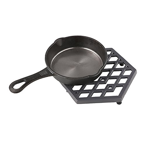 Black Cast Iron Trivets Grey Metal Enameled Trivet Mat Hot Dish Pads for Kitchen Table, Hot Dishes, Pots, Pans Dining – Heat Resistant to 1472°F – Kitchen Decor Trivets