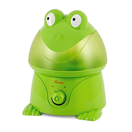 Crane USA Humidifiers - Frog Adorable Ultrasonic Cool Mist Humidifier - 1 Gallon Adjustable Mist Output, Automatic Shut-off, Whisper-Quiet Operation for Home Bedroom Office Kids and Baby Nursery by Crane USA