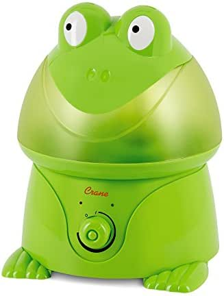Crane Filter-Free Cool Mist Humidifiers for Kids, Frog