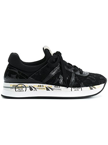 LIZ3005 Leather Women's PREMIATA Sneakers Black CxPCw5qA8
