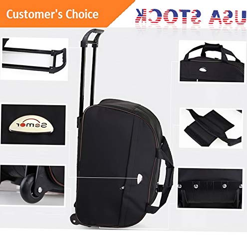 "Amazon.com | Sandover 24"" Rolling Wheeled Tote Duffel Suitcase Carry On Trolley Bag Travel gage 