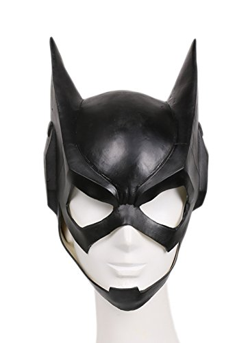 Bat Girl Mask Deluxe Black Latex Teens Full Head Halloween Cosplay Costume Prop