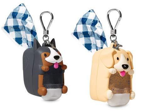 Bath and Body Works 2 Pack Doggie Bag & Pocketback Holder Shepherd and Labrador.