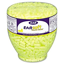 Neon Tapered Cordless Earplug Refill (500 Pack)