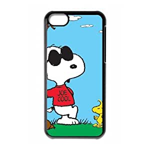 Charlie Brown And Snoopy iPhone 5c Cell Phone Case Black 218y-738388