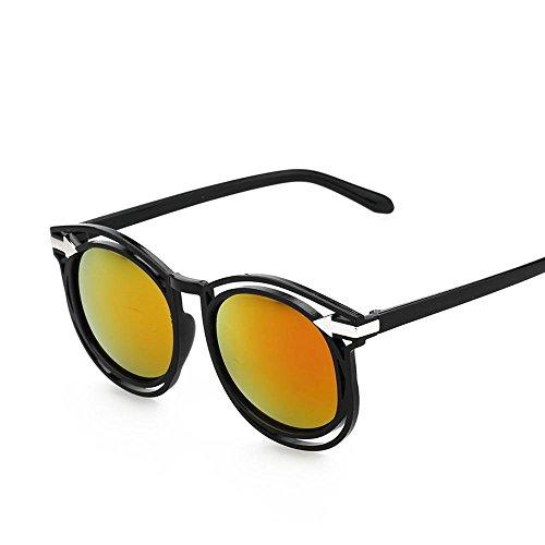 Aoligei Lunettes de soleil rétro flèche fashion tendance couleur film couleur lumineuse réfléchissant lunette de soleil E