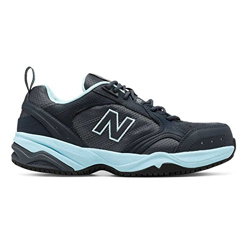 (New Balance Women's WID627V1 Work Shoe-W, Dark Grey/Freshwater, 10 B US)